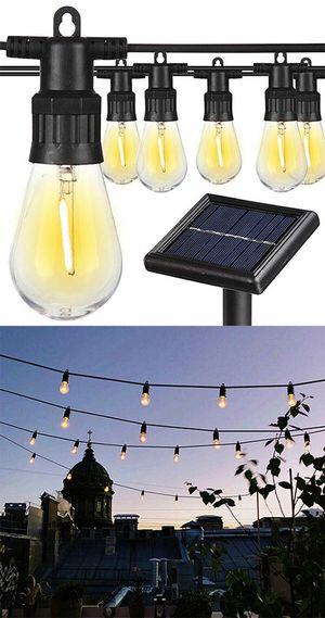 (NEW) $35 Solar LED 48ft String Lights 15 LED Bulbs Outdoor Patio Garden Christmas Waterproof for Sale in El Monte, CA