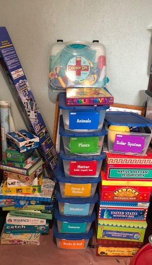 Games, puzzles, homeschool, science, history, pretend play for Sale in Margate, FL