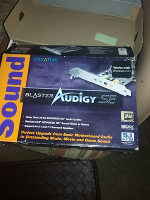 Creative Sound Blaster Audigy SE for Sale in Lake Elsinore, CA