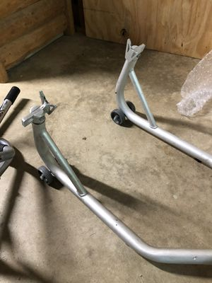 Motorcycle Front and Rear racing stands for Sale in Canton, GA
