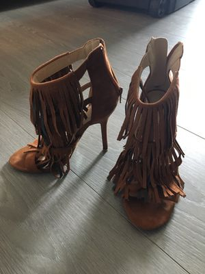 Boho Chic brown fringe heals for Sale in Miami, FL
