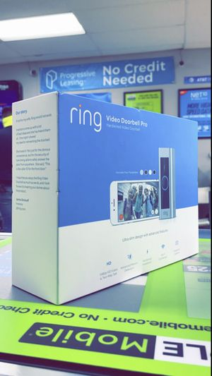 Ring Video Doporbell Pro Wired + Chime Pro Bundle - Smart Video Doorbell Camera for Sale in Arlington, TX