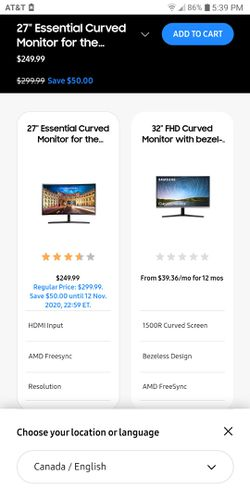 Samsung Essential curved monitor for Sale in Tampa,  FL