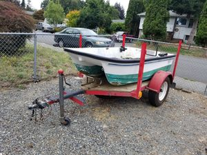 Custom motorcycle trailer with title and ramps for Sale in Lynnwood, WA