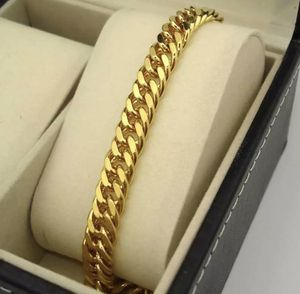 New Yellow Gold Filled 18K 9MM Cuban Link Bracelet for Sale in Las Vegas, NV