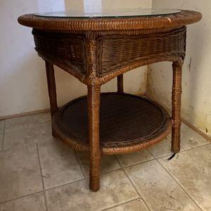 Wicker Side table for Sale in Seattle, WA