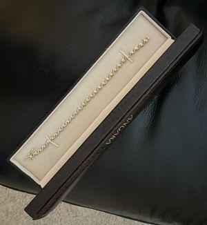 14k gold diamond tennis bracelet for Sale in Irving, TX