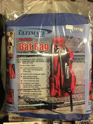 Pro Style Baseball Bat Bag Extended (Red) for Sale in Las Vegas, NV