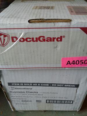 Case of Business Checks for Sale in Stockton, CA
