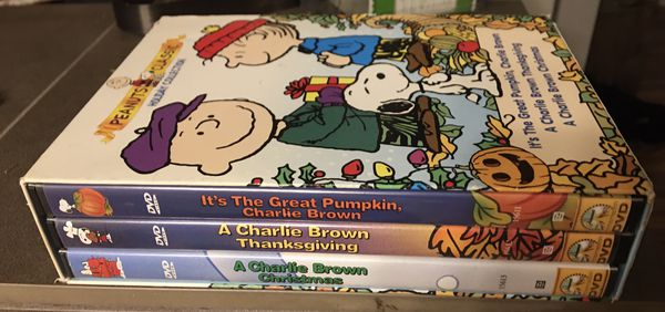 Peanuts classic holiday collection; it's the great pumpkin/Charlie Brown Thanksgiving/Charlie ...