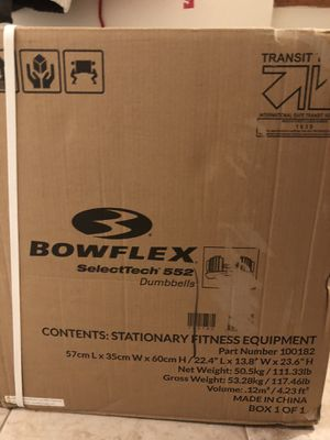 Brand New - Bowflex 552INOIR Adjustable Dumbbells Set **IN-HAND** for Sale in Washington, DC