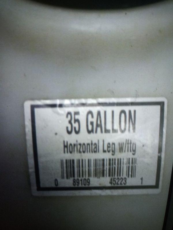 35 gallon water tank water pipe