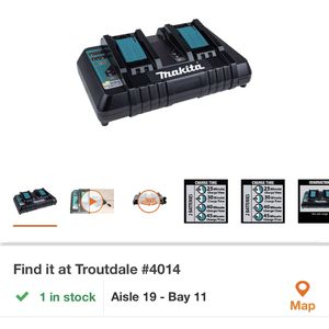Makita Fast Double Charger for Sale in Troutdale, OR