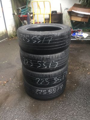 225/55/17 Goodyear eagle LS2 set of used tires for sale  great condition with 70% tread 225$ for 4 . Installation, balance and wheel alignment available. Pl for Sale