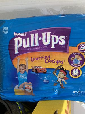 Huggies diapers pull-ups 4T-5T Disney cars and pirates version for Sale in Charlotte, NC