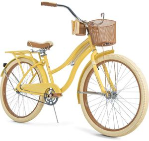 """Huffy, Nel Lusso Classic Cruiser Bike with Perfect Fit Frame, Women's, Yellow, 26"""" for Sale in Bethesda, MD"""