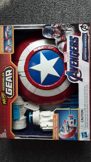 AVENGERS CAPTAIN AMERICA NERF GEAR NEW TOYS $20 ✔✔✔PRICE IS FIRM✔✔✔ for Sale in Huntington Park, CA