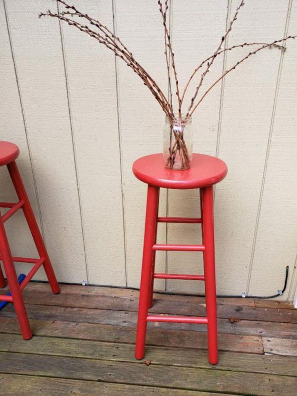 Two super cute indoor/outdoor bar stools