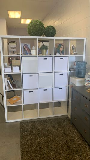 Kalla Shelves with storage boxes for Sale in Ontario, CA