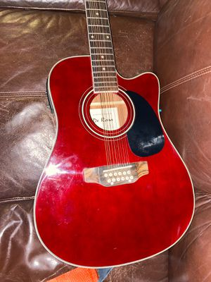 Selling a de Rosa 12 string red (comes with bag) for Sale in Perris, CA