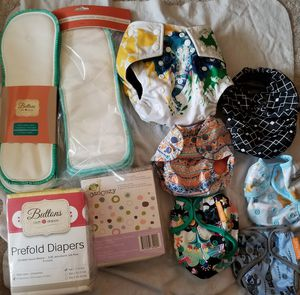 Reusable diaper covers, inserts, and cloths for Sale in Portland, OR
