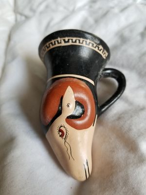 1962 hand made reproduction Greek drinking urn, hand painted for Sale in Bangor, ME