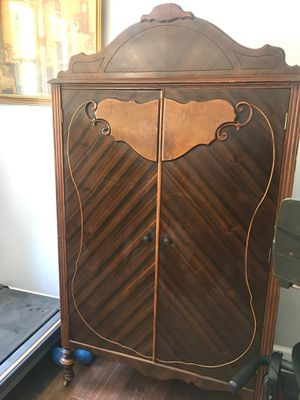 Antique curved armoire wardrobe in a good condition for Sale in Los Angeles, CA