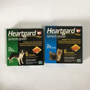 2 Heartgard Plus Chewables for Dogs - 6 Pack for Sale in Encinitas, CA