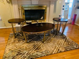 Coffee table and 2 corner table for Sale in Roswell, GA