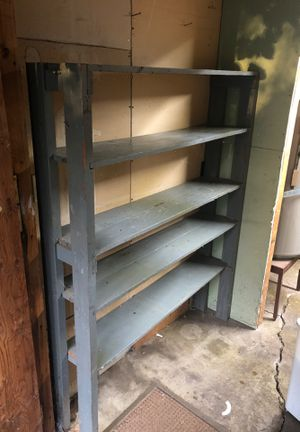 Free painted wooden shelf / garage organizer for Sale in Eugene, OR