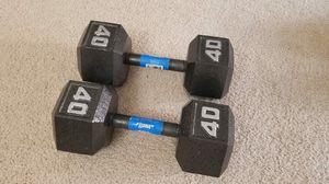 40 lbs weights dumbbells for Sale in Arlington, VA
