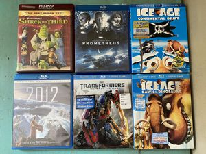 $4 Each Blu Ray Bluray Movies Ice Age Transformers 2012 Shrek Prometheus for Sale in Portland, OR