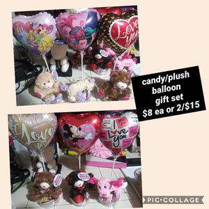 Candy/plush/balloon set for Sale in Fresno, CA