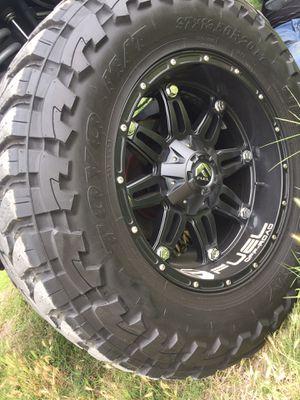 37x13.5R20 TOYO MT with 20x9 Fuel hostage black Matte wheels for Sale in Stanton, CA