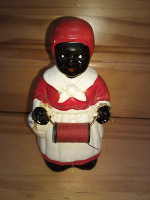 vintage ceramic aunt Jemima with spool thread for Sale in Greenville, SC