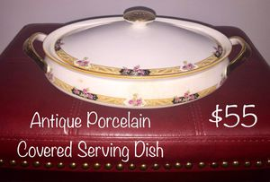 Antique Porcelain Covered Serving Dish for Sale in Mount Vernon, OH