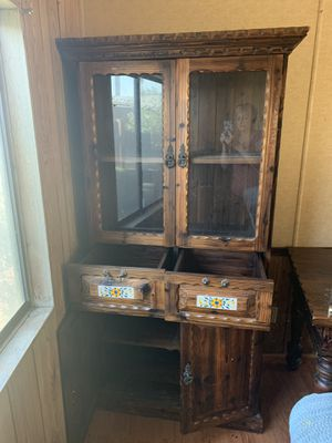 Antique hutch and dining table. Needs to be moved and picked up tomorrow!! Located near 16th St. and Bell Road for Sale in Phoenix, AZ