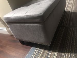 Gray ottoman for Sale in Exeter, CA