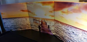 3 piece painting artwork sunset pier for Sale in Loma Linda, CA