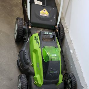 Greenworks Electric Lawn Mower, Trimmer, Batteries and Charger for Sale in Culver City, CA