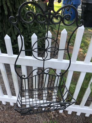 Iron plant hanger for garden. Paid 59.98 selling for 15.00 for Sale in Virginia Beach, VA