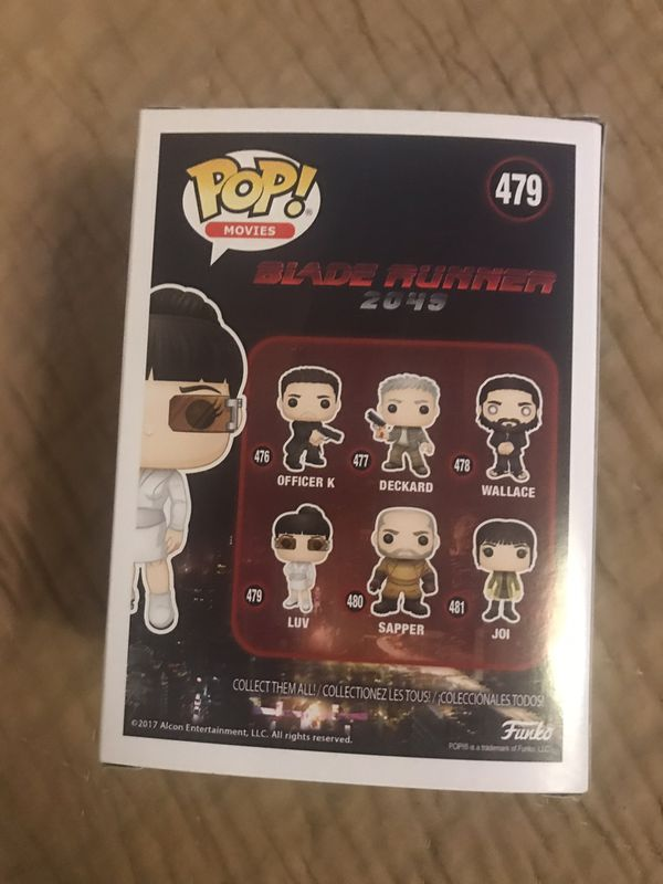 Funko Pop movies, Blade Runner 2049, Luv #479, vinyl figurine , collectible