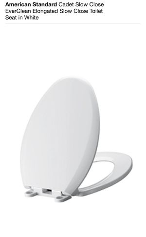 American Standard Cadet Slow Close EverClean Elongated Slow Close Toilet Seat in White for Sale in Lake Bluff, IL