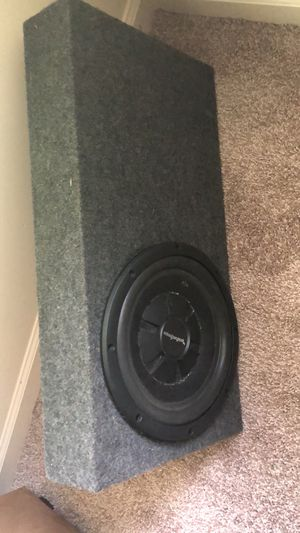 Subwoofer box 10in . Box only for Sale in Smyrna, GA