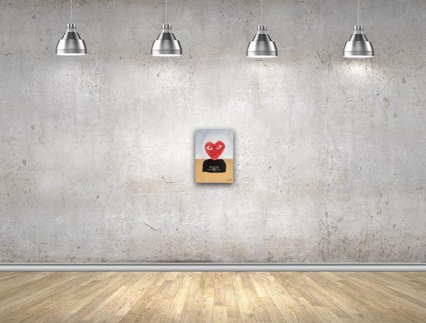 Comme des Garçons positive art painting canvas (not a print)