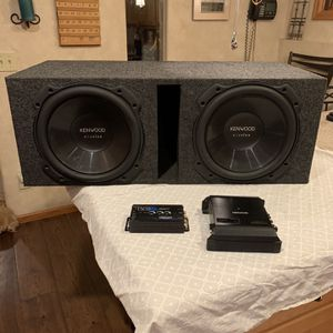 Two Kenwood Excelon 12 Inch Subwoofers for Sale in Columbine Valley, CO
