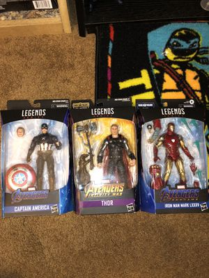 MOC Marvel Legends Endgame Iron Man and Captain America and Infinity War Thor for Sale in Pflugerville, TX