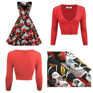 Rockabilly skull dress with cardigan size small for Sale in Reno, NV