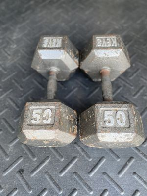 50LBS! HEX DUMBBELLS. for Sale in Lutz, FL