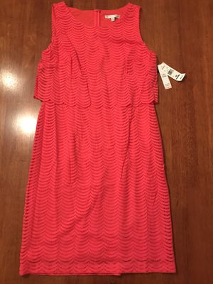 Hot Pink Lace Dress by Sandra Darren- Size 10- NEW WITH TAGS for Sale in Charleston, SC